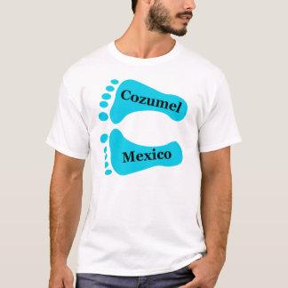 Cozumel裸足のメキシコ Tシャツ