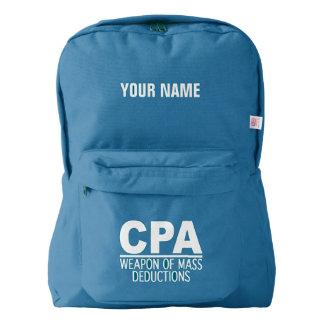 CPAのカスタムなモノグラムのバックパック AMERICAN APPAREL™バックパック