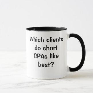 CPAの冗談-元のきれいで短い1つのはさみ金 マグカップ