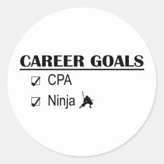 CPAの忍者のキャリアのゴール ラウンドシール