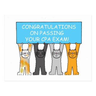 CPAの検査の合格のお祝い ポストカード