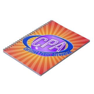CPAの球体のSWOOSHのロゴの米国公認会計士 ノートブック