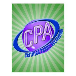 CPAの球体のSWOOSHのロゴの米国公認会計士 ポストカード