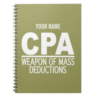 CPAカスタムな色のノート ノートブック
