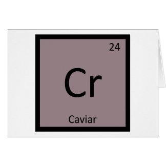 Cr -キャビアの前菜化学周期表 カード