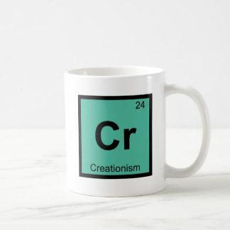 Cr -天地創造説の哲学化学記号 コーヒーマグカップ