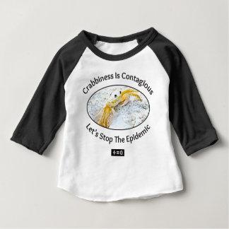 Crabbinessは伝染性のおもしろいです ベビーTシャツ