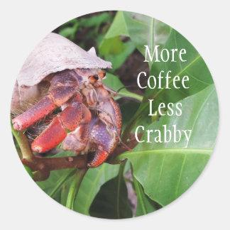 Crabbyコーヒー ラウンドシール