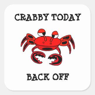 Crabby今日はステッカーを後退させます スクエアシール