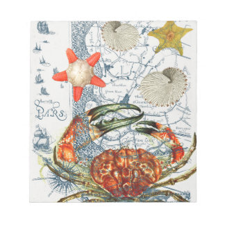 crabby地図のヒトデ ノートパッド