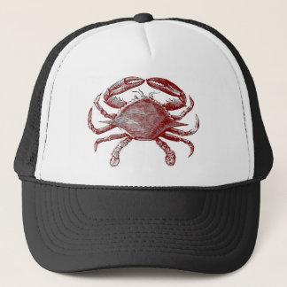 Crabby赤い鉛筆のカニのスケッチを感じること キャップ
