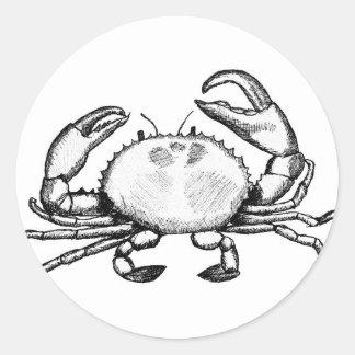 Crabby Feelin ラウンドシール