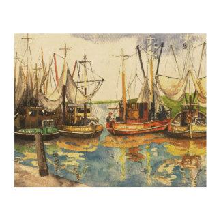 Crabfishingのボート ウッドウォールアート