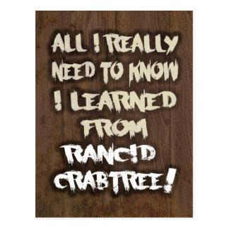 Crabtreeの臭い郵便はがきから学びました ポストカード