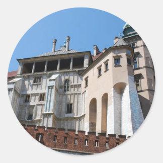 CracowのWawelの王室のな城 ラウンドシール