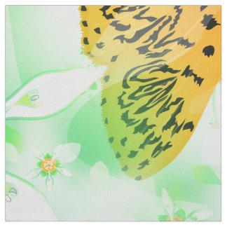 Crambidガ及びNASAのaequatorianaの春の花柄 ファブリック