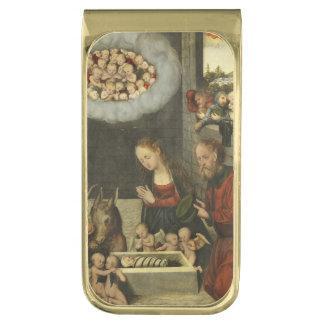 Cranach著ベビーイエス・キリストを崇拝している羊飼い ゴールド マネークリップ