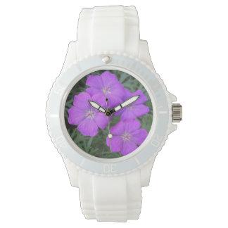 Cranesbillのゼラニウムの紫色 腕時計