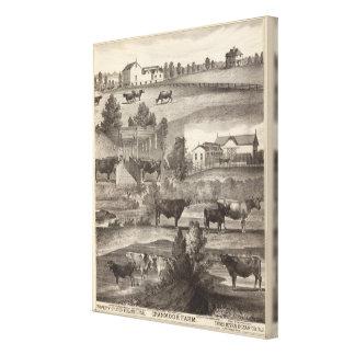 Cranmoorの農場、Toms川、NJ キャンバスプリント