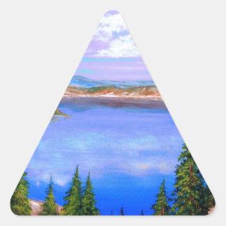 crater湖のデザイン 三角形シール