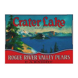 crater湖のナシの木枠LabelMedford、または キャンバスプリント