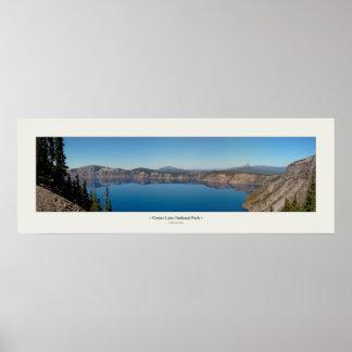 crater湖のパノラマ ポスター