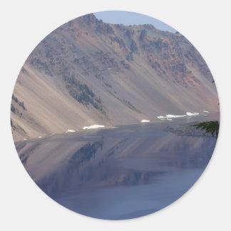 crater湖の反射 ラウンドシール