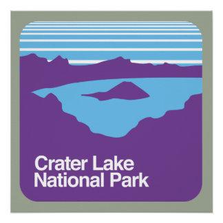 crater湖の国立公園 ポスター