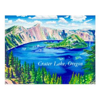 crater湖の郵便はがき ポストカード