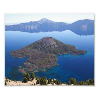 crater湖の魔法使いの島 フォトプリント