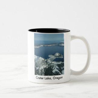 crater湖、オレゴン ツートーンマグカップ