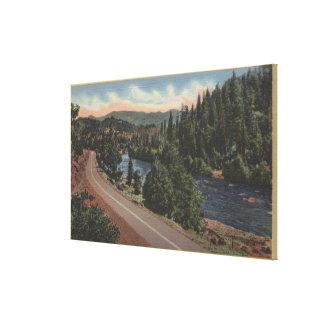 crater湖、オレゴン-上部の悪党 キャンバスプリント