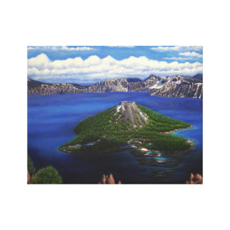 crater湖 キャンバスプリント