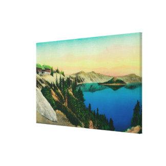 crater湖lodge見落とし湖 キャンバスプリント