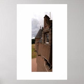 Crathesの城、スコットランド ポスター
