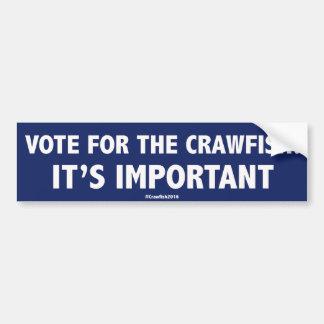 Crawfishのための投票: それは重要です! 豊富なStic バンパーステッカー