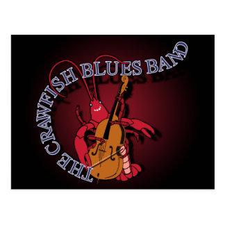 Crawfishのブルー・バンドのコントラバス奏者 ポストカード