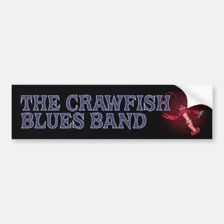 Crawfishのブルー・バンドのハーモニカ バンパーステッカー