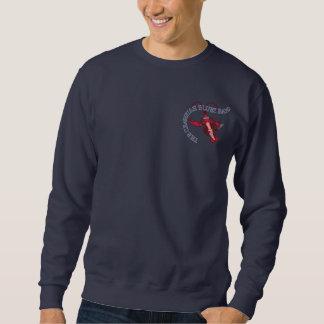 Crawfishのブルー・バンド(ハーモニカの前部) スウェットシャツ