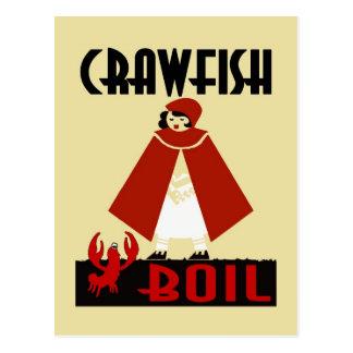 Crawfishの沸騰乗馬フード ポストカード