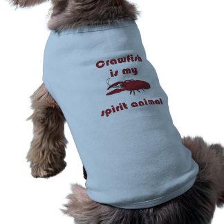 Crawfishは私の精神の動物のおもしろいペットワイシャツです ペット服