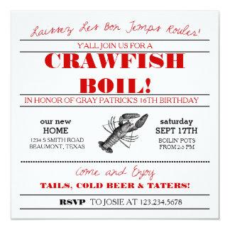 Crawfishまたは低地諸国の沸騰招待状 カード