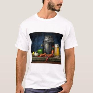 Crawfish及びビールTシャツ Tシャツ