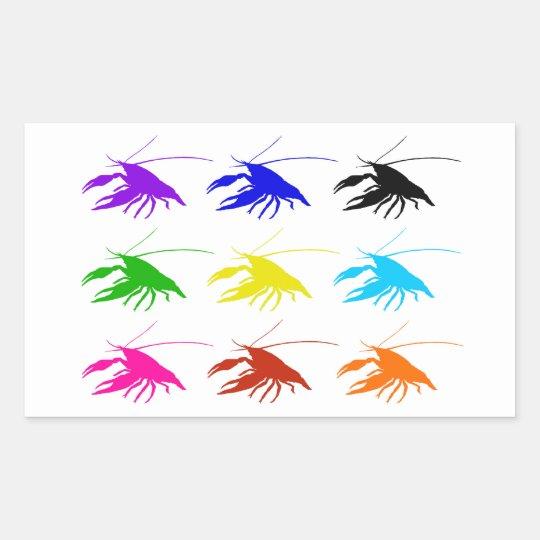 Crawfish (Crayfish) 長方形シール