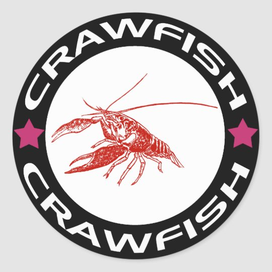 crawfish-ring (red-1) ラウンドシール