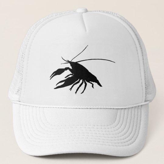 crawfish's silhouette (black) キャップ