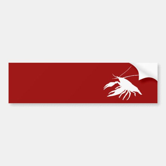 crawfish's silhouette (White) バンパーステッカー