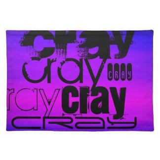 Cray; 鮮やかなすみれ色の青およびマゼンタ ランチョンマット