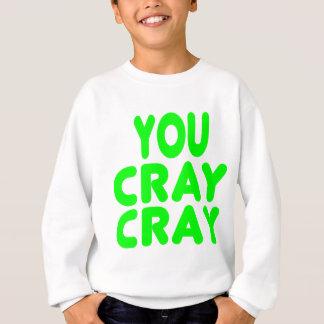 Cray Crayのインターネットのミームのネオンの緑 スウェットシャツ