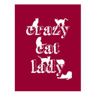 Crazy Cat Lady ポストカード